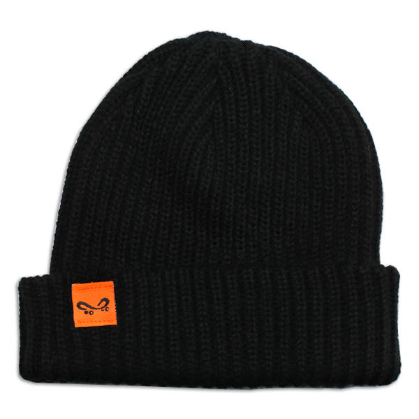 Super Orange Skateboarding Trawler - Black