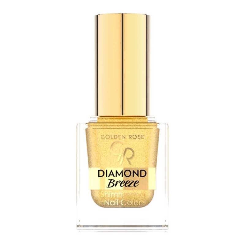 Golden Rose Diamond Breeze Shimmering Nail Color 24k Gold