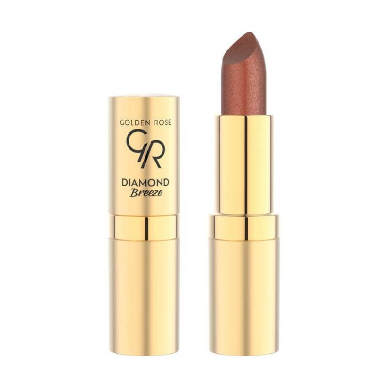 Golden Rose Diamond Breeze Shimmering lipstick Russet Sparkle