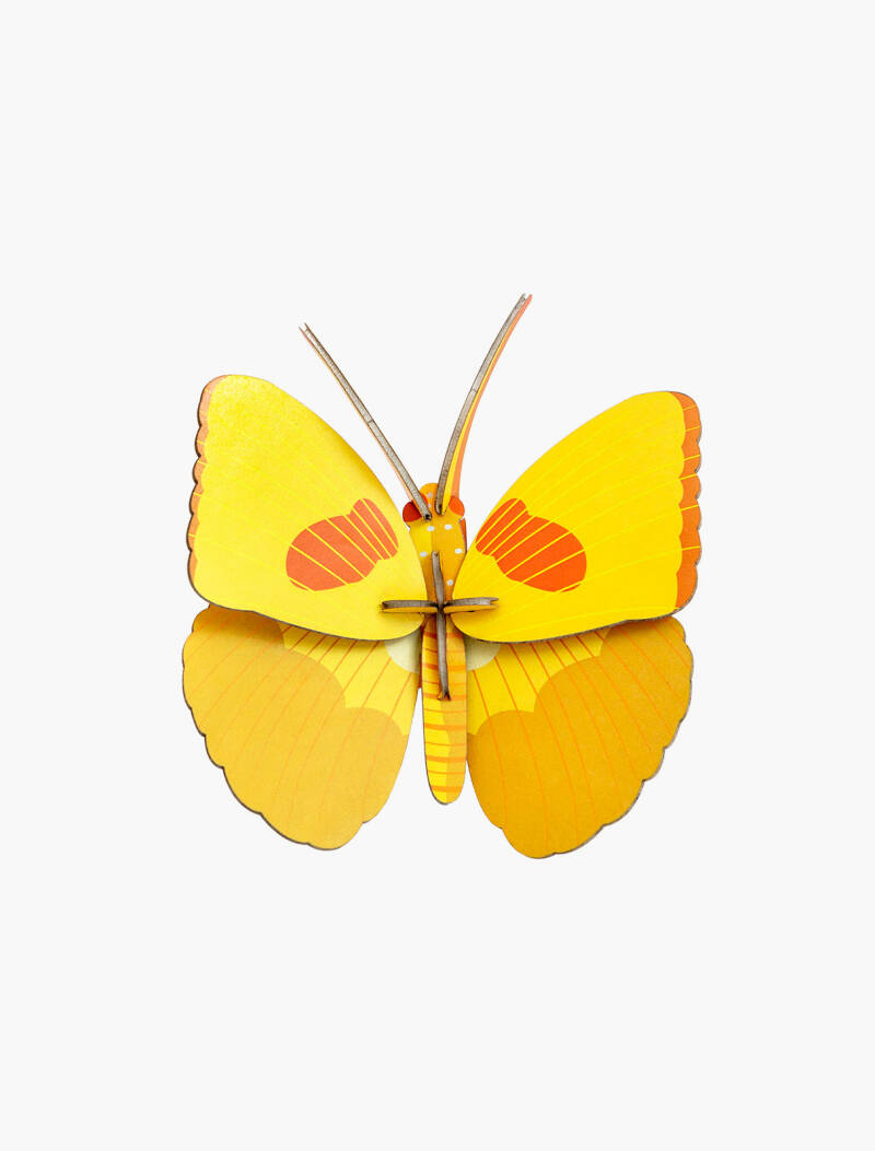 Studio ROOF - wall decor - yellow butterfly