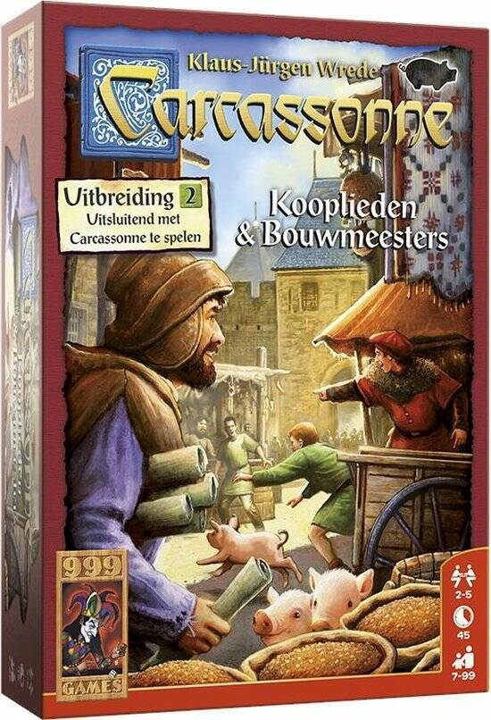 Carcassonne: Kooplieden & Bouwmeesters Bordspel