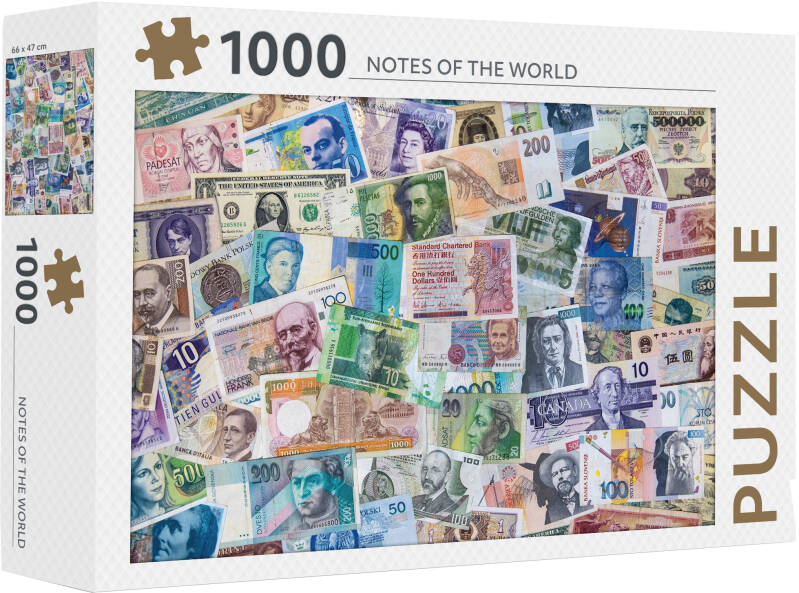 Puzzel 1000 st Notes of the World