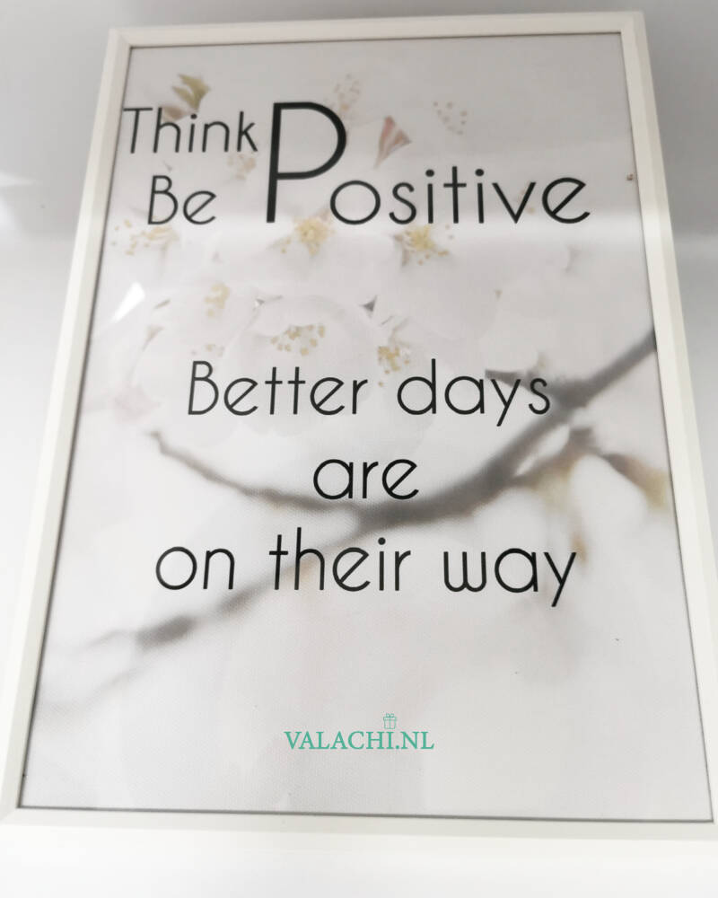 A4 canvas poster met positieve quotes