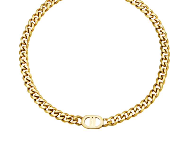 Connected Chunky ketting goud