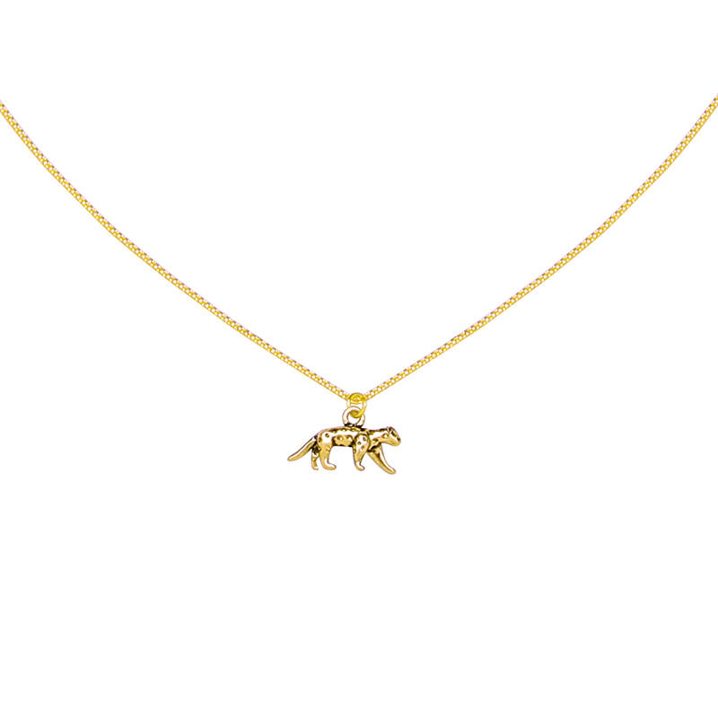 Ketting Lucky Leopard goud
