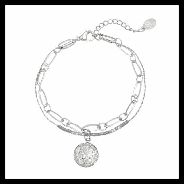 Armband way of believe Zilver