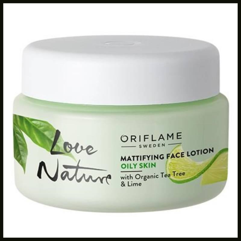 Mattifying Face Lotion with Organic Tea Tree & Lime (hydrateren)