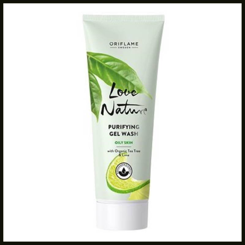 Love Nature Purifying Gel Wash with Organic Tea Tree & Lime