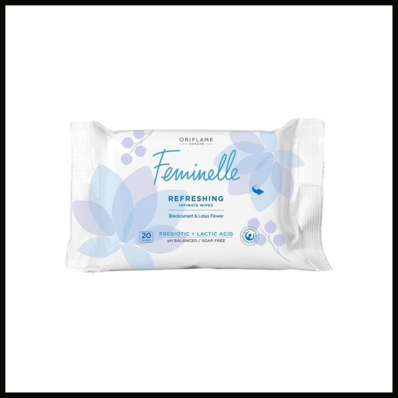 Feminelle Refreshing Intimate Wipes Blackcurrant & Lotus Flower