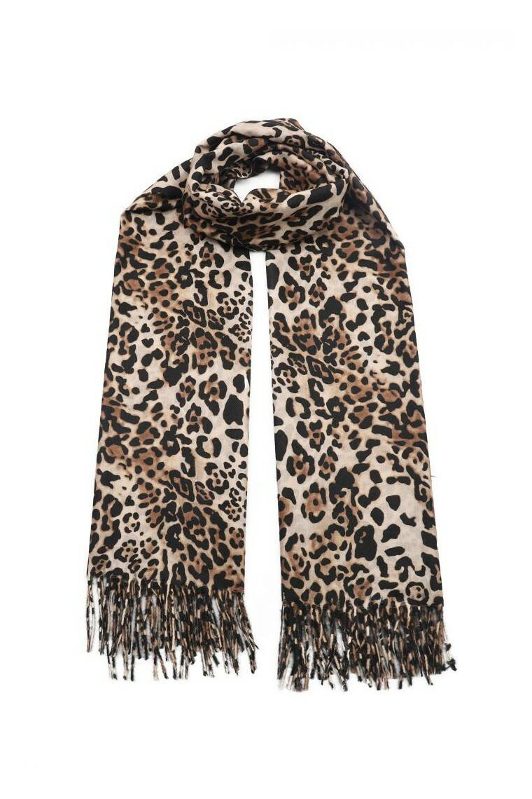 Sjaal leopard taupe