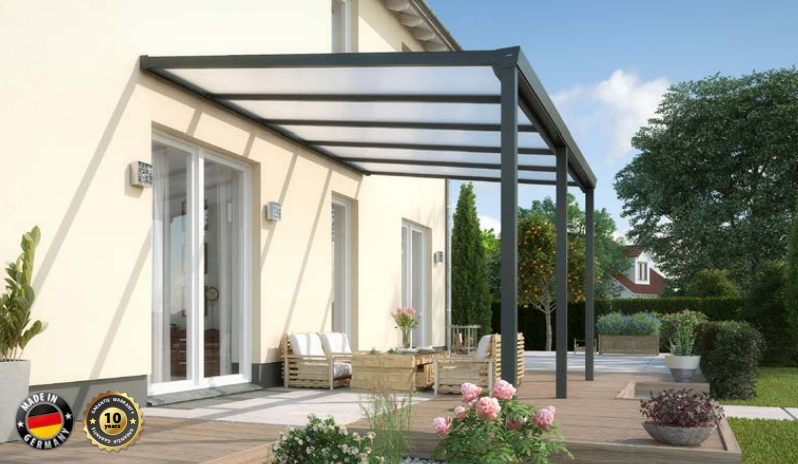 Easy Edition incl. 16mm Polycarbonaat | 700 x 300 cm | Antraciet of Wit