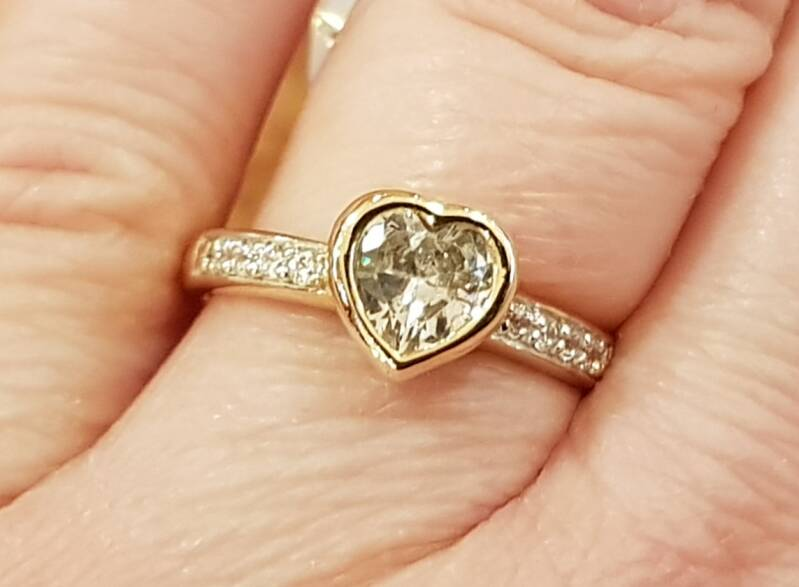 Ring hart zirconia