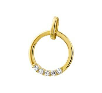 Hanger diamant 0.10ct H S