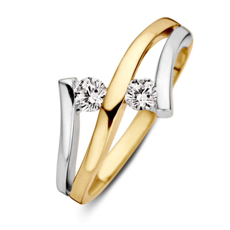 Ring bi-color zirconia