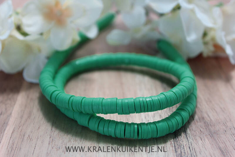 Katsuki Disc Kralen Sea Green 6mm, per streng - PM027