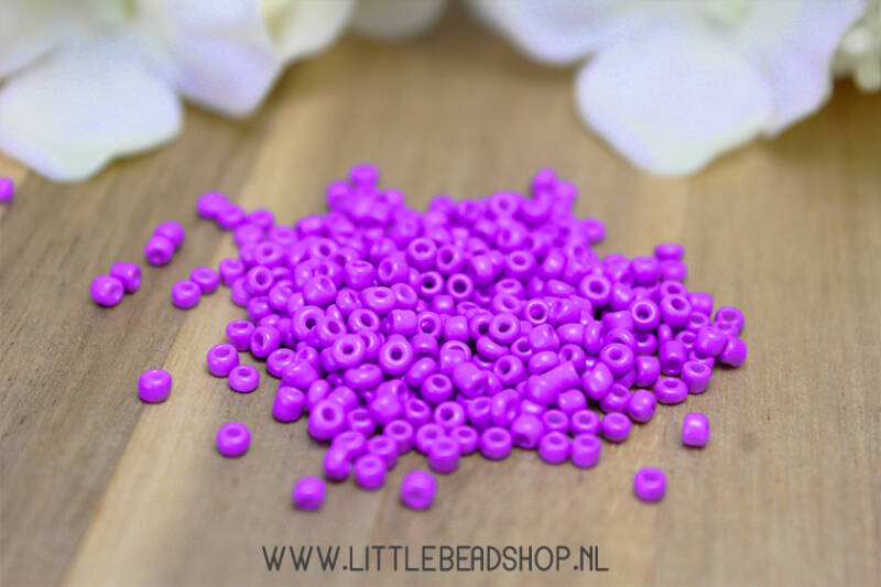 Rocailles Basic Purple 2mm, 15 gram - GK137