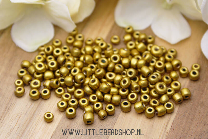 Rocailles Bright Gold 4mm, 27 gram - RC009