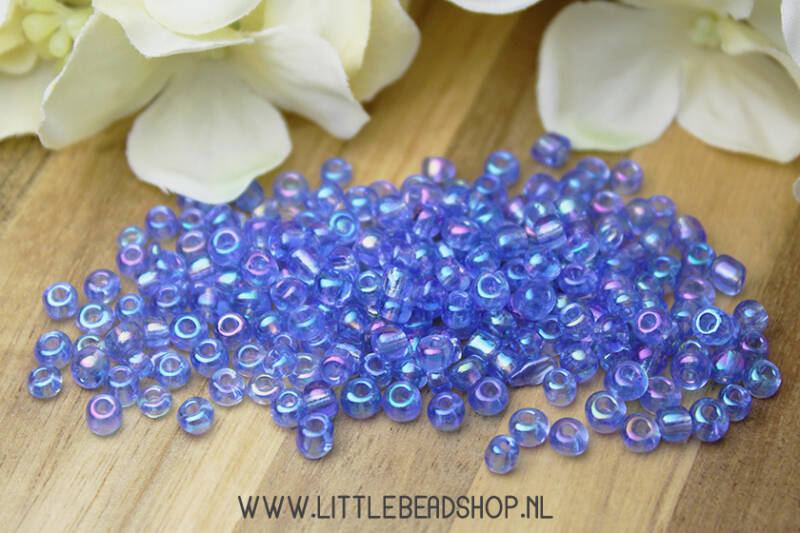 Rocailles Crystal Sky Blue 4mm, 27 gram - RC011