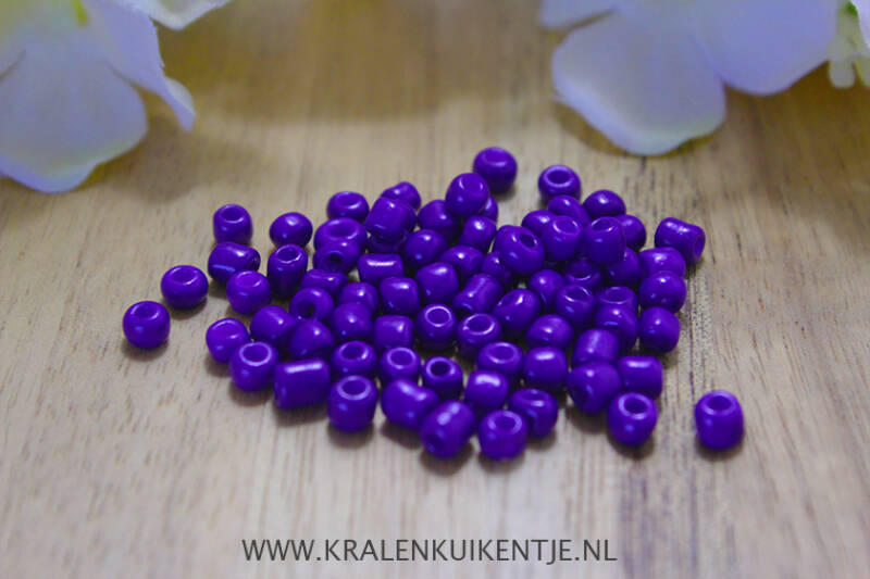 Rocailles Royal Purple 4mm, 27 gram - GK062