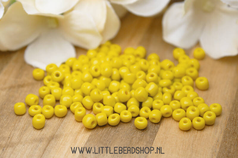 Rocailles Yellow 4mm, 27 gram - RC045