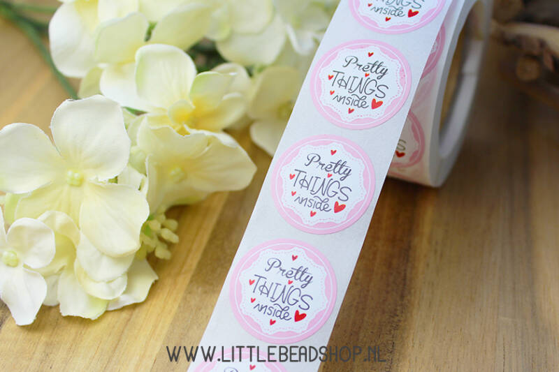 "Sluit Stickers ""Pretty Things Inside"" Pink - ST036"