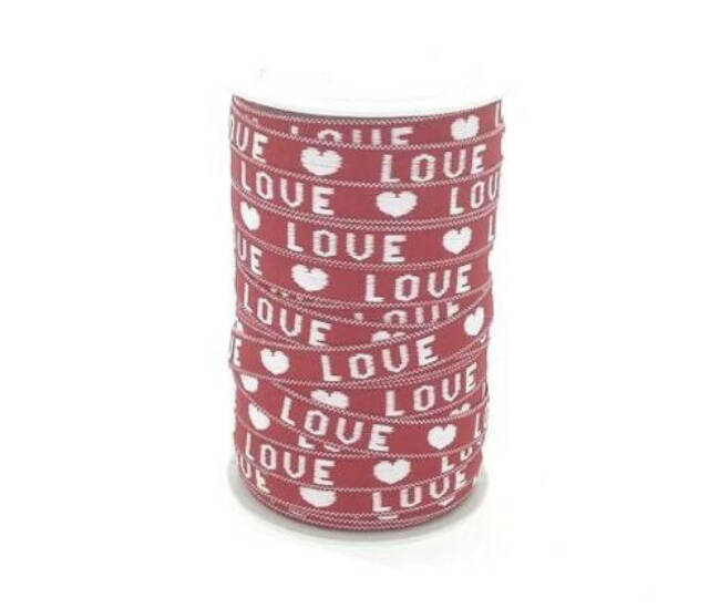 Rood/Wit Love lint
