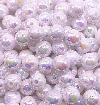 Shiny Holographic Pearls 4mm