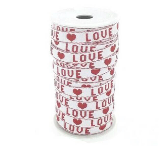 Wit/rood love lint!