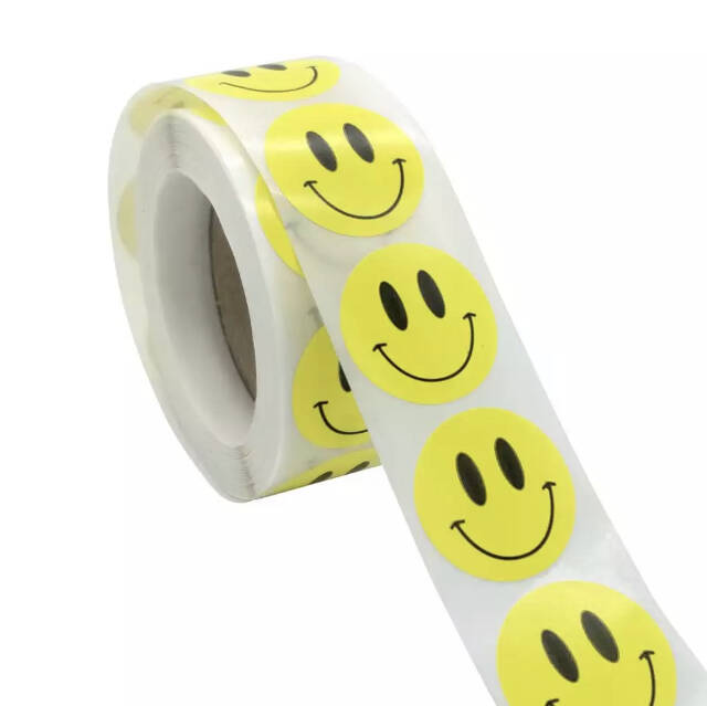 Smiley stickers yellow