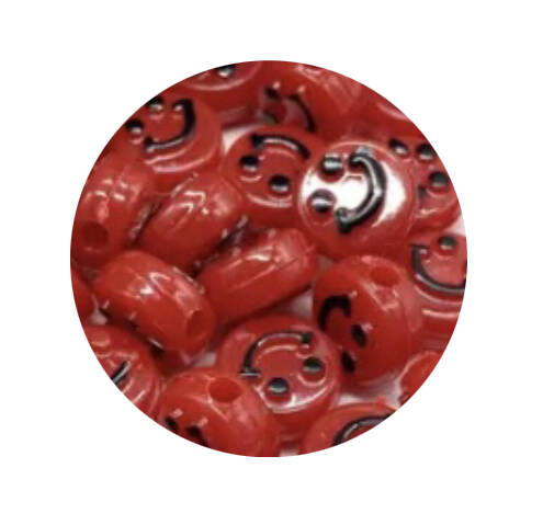 Acryl Smiley Red