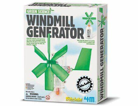 Bouwpakket - 4M KidzLabs - Green Science - Doe-het-zelf Windmolen - Windmolen (Eco-Gr)