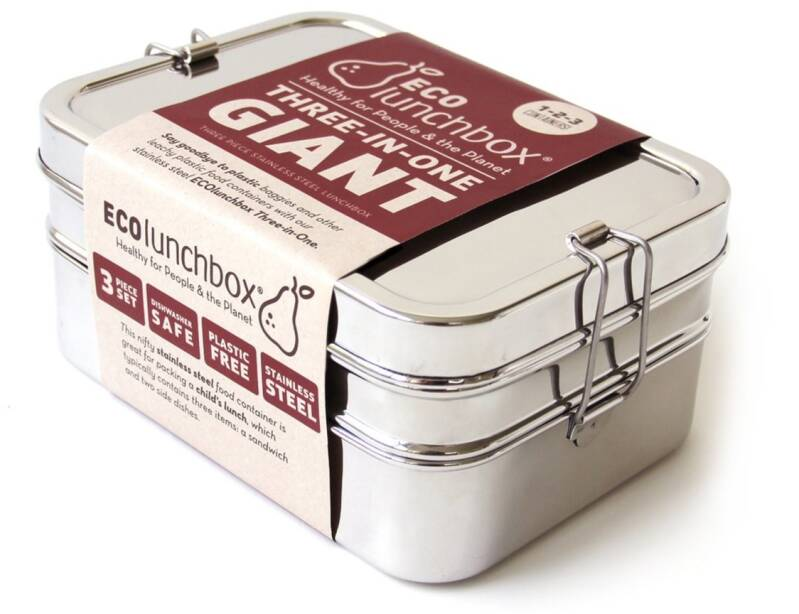 Lunch & Water - Eco lunchboxes - Lunchbox 3-in-1 Giant - (Eco-Gr)