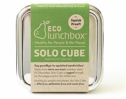 Lunch & Water - Eco lunchboxes - Lunchbox Solo Cube - (Eco-Gr)