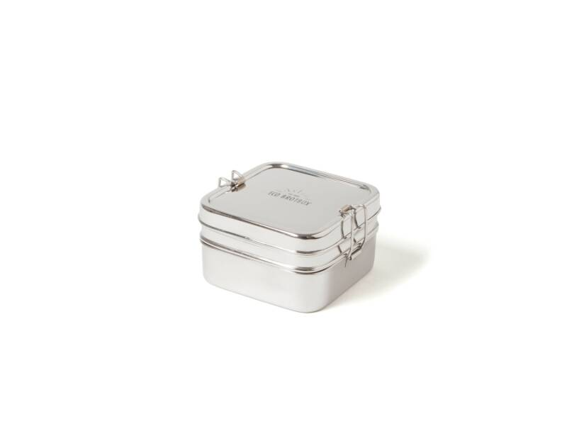 Lunch & Water - Eco-Brotbox - Lunchbox XL - Cube -1 L - (Eco-Gr)