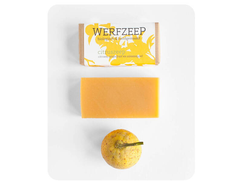 Handzeep - Werfzeep - citruszeep - 100 gr - Citrus - (Eco-Gr)