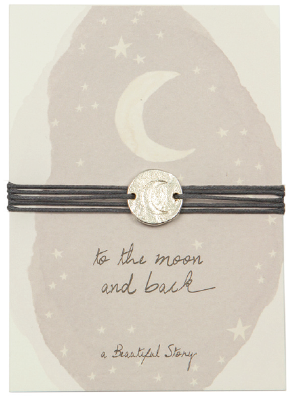 Jewelry postcard Moon . A Beautiful Story