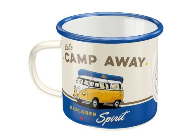 Emaille mok camp away