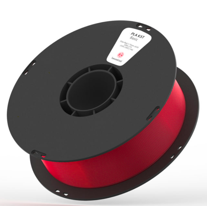 Kexcelled PLA K5T - Clear Red / Helder Rood - 1 kg spool 1,75mm