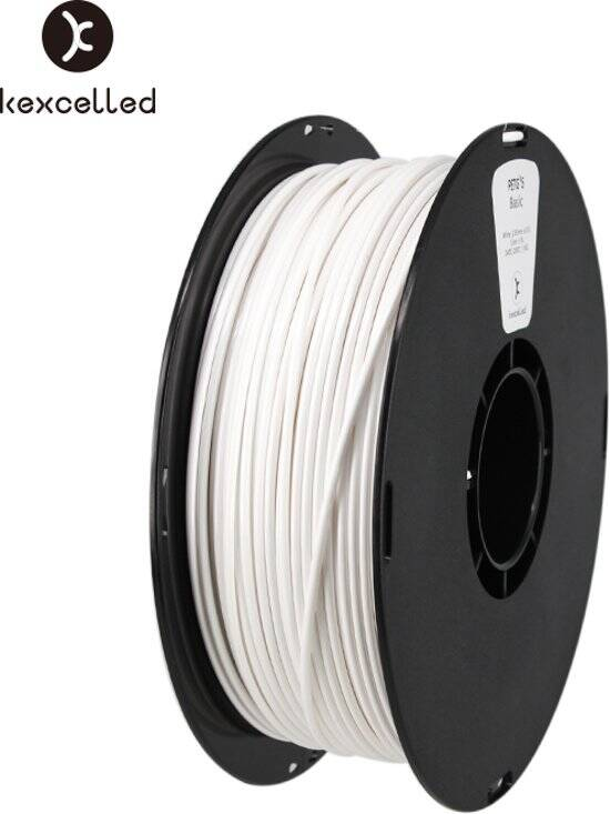 Kexcelled PETG K5 - Wit - 1 kg spool 1,75mm