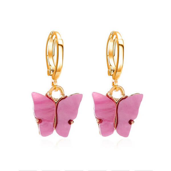 Butterfly earing pink