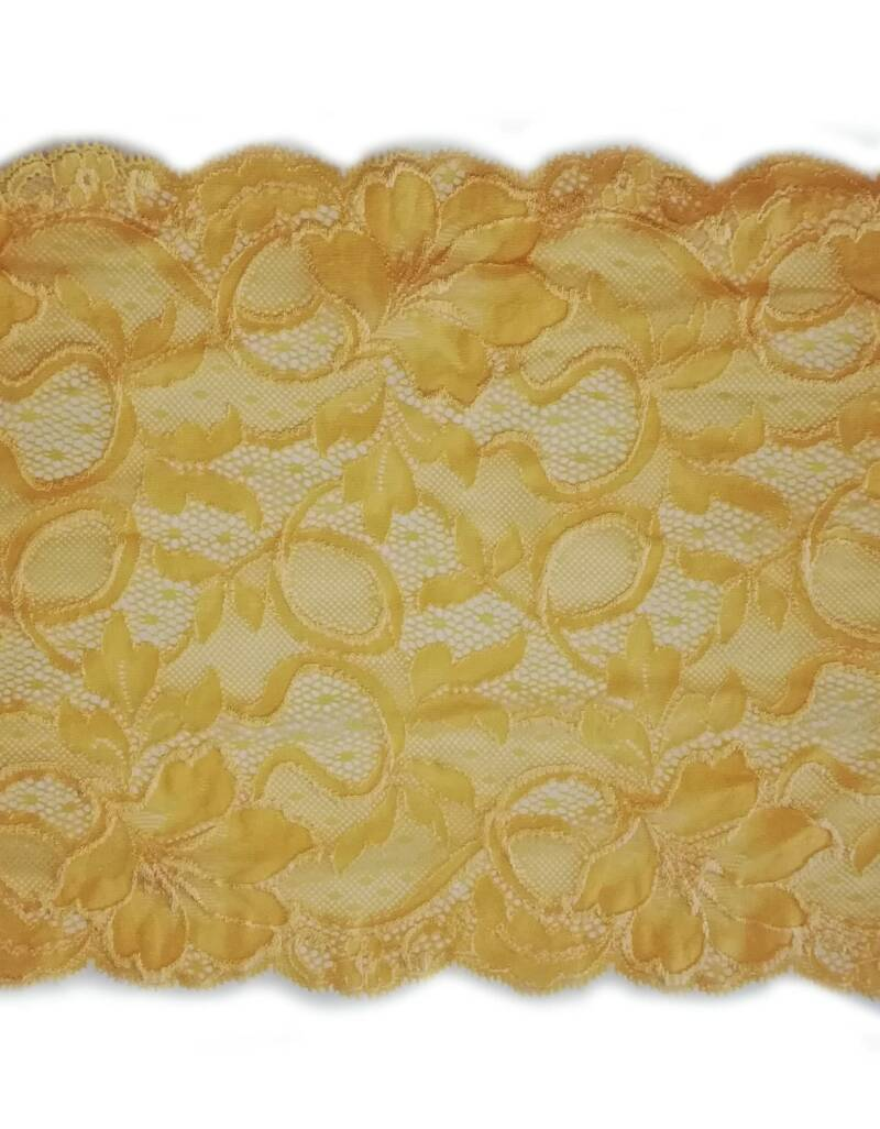 Knitted lace bright yellow