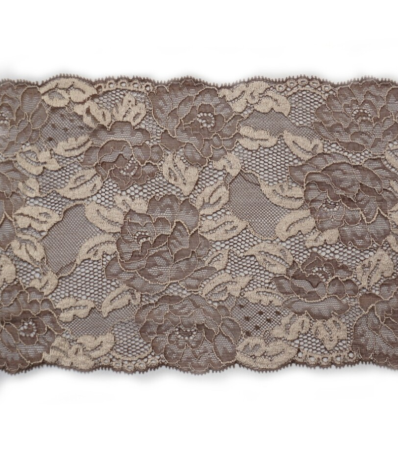 Knitted lace Brown / cream colored