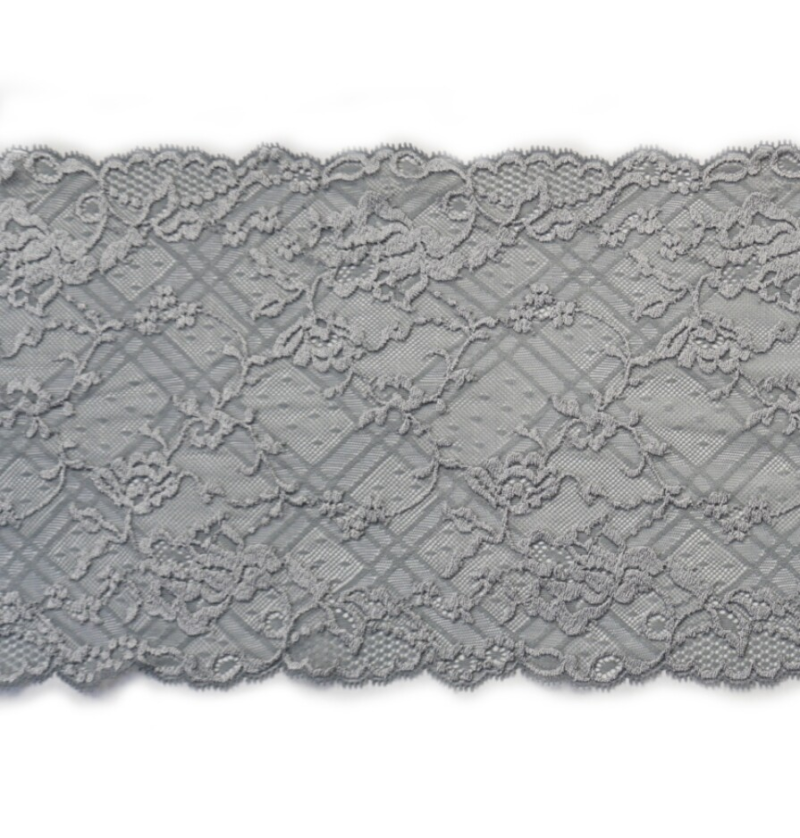 Knitted gray lace