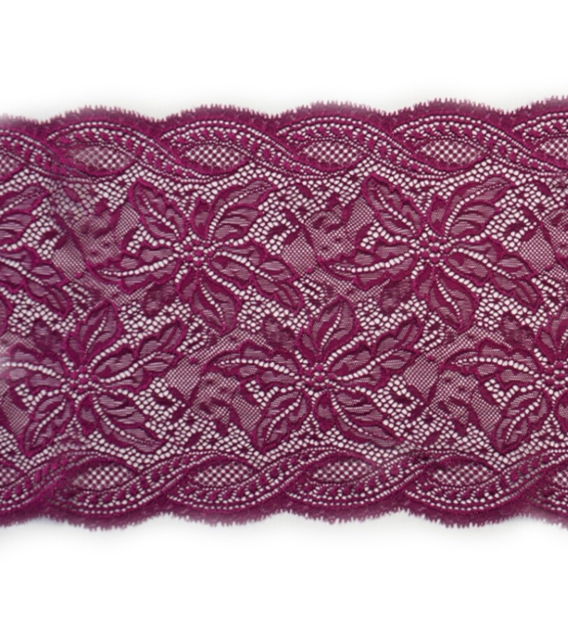 Knitted purple lace
