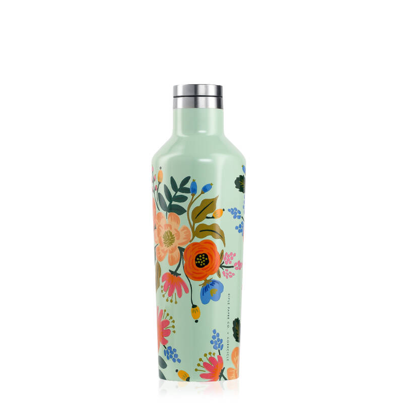 Lively Floral Mint Canteen ThermosFles