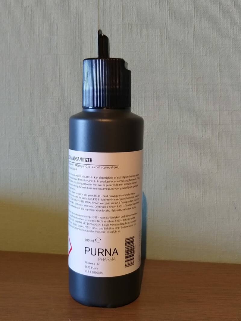 Handgel 200ml PURNA (Made in Belgium)