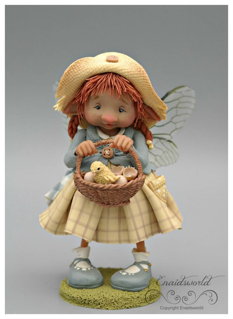 Fairy puppet with chick