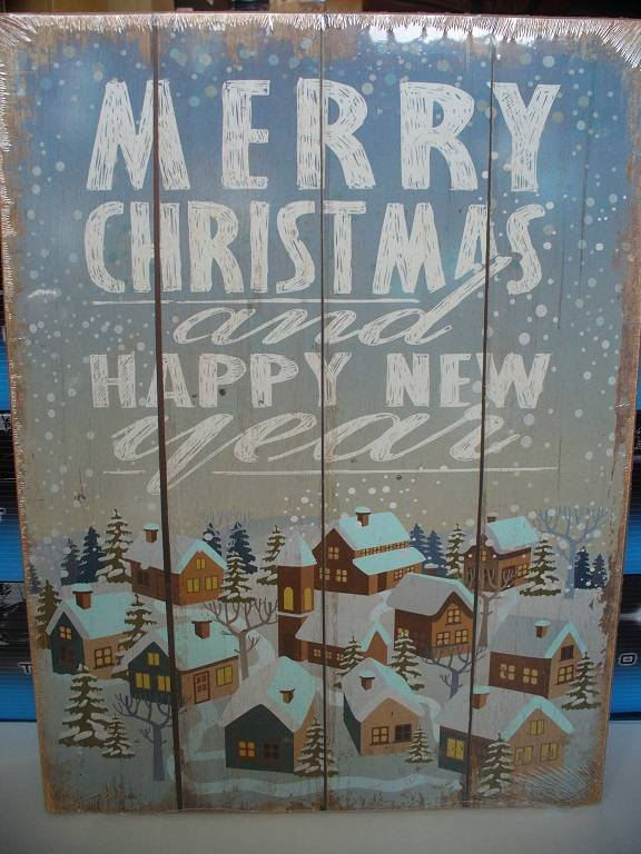 Tekst-bord Merry Christmas and happy new Year