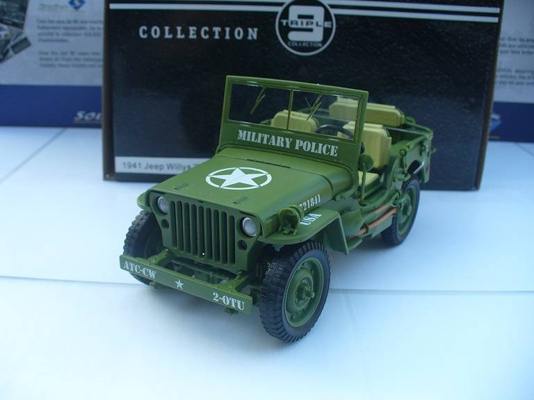 Willy's Jeep USA Militairy Police Triple 9 Collections 1/18
