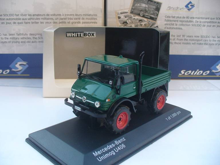 Mercedes Benz Unimog Groen White Box 1/43
